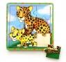 Puzzle drewniane małe Dzikie koty