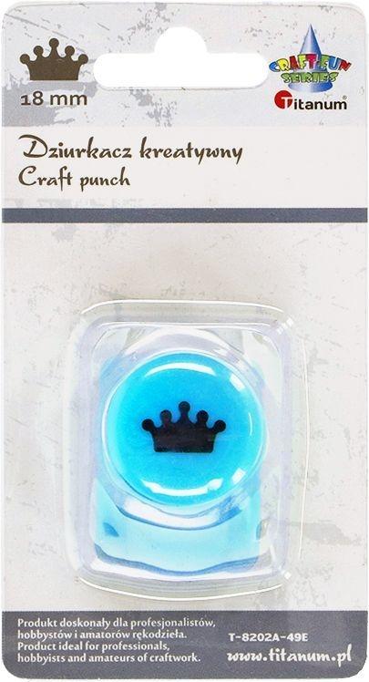 Dziurkacz Titanum Craft-fun kreatywny 18mm korona turkusowy