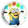 Talerzyki papierowe Minions Balloons Party 23cm,8szt