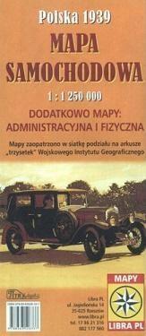 Polska 1939 Mapa samochodowa 1:1 250 000