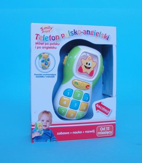 TELEFON EDUKACYJNY POLSKO ANGIELSKI (80673)