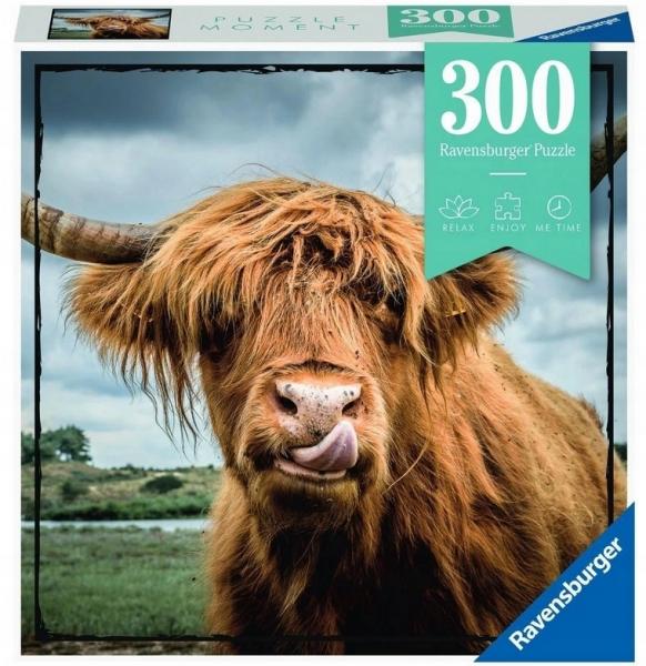 Ravensburger, Puzzle Moment 300: Szkocka krowa (132737)
