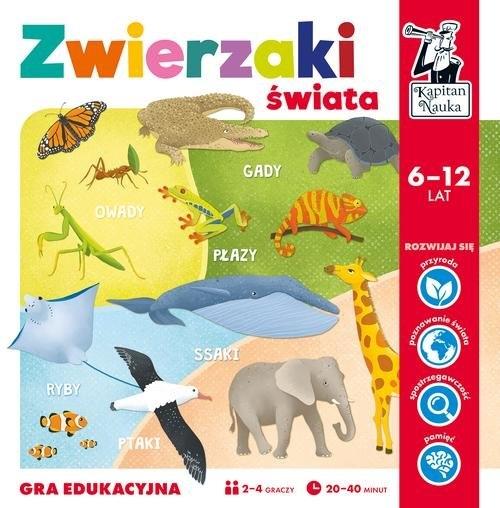 Kapitan Nauka. Gra edukacyjna - Zwierzaki świata Czapczyk Paweł