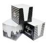 Kostka papierowa biała w kubiku, 9x9x9cm (314829)