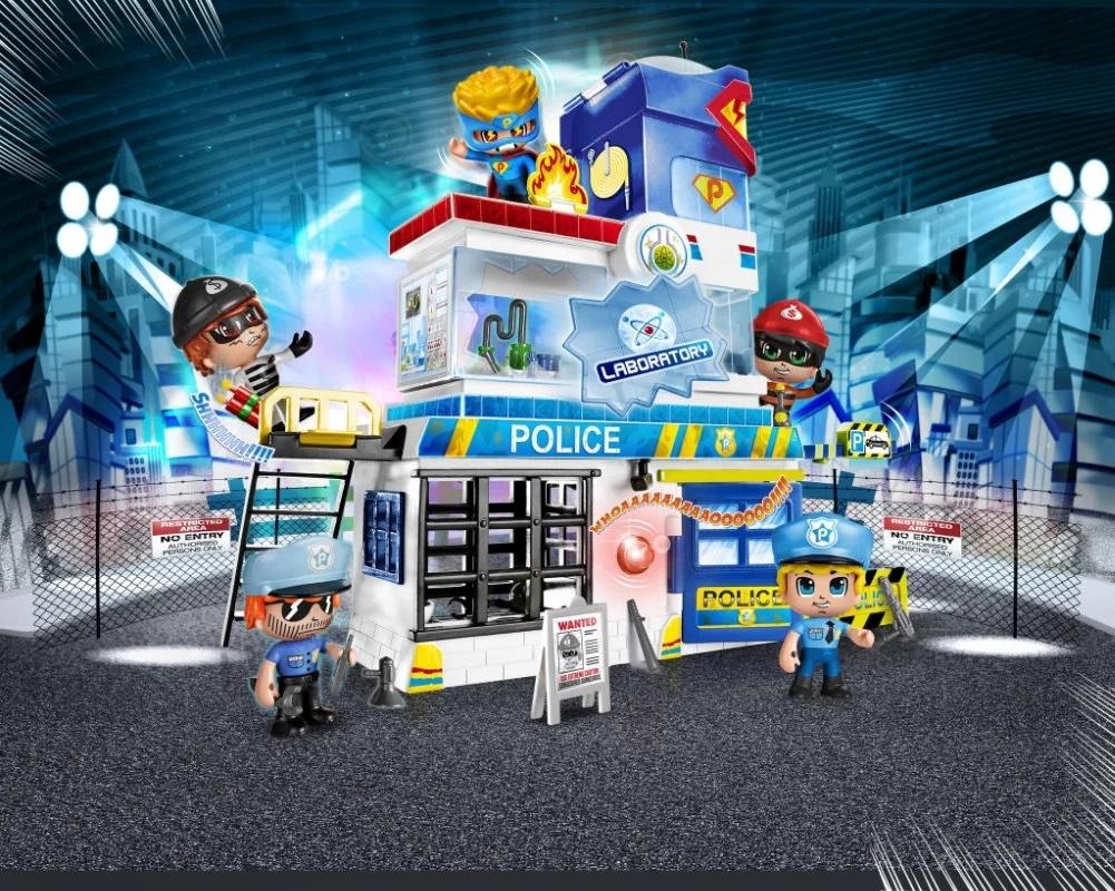 "PinyPon Action - Zestaw ""Komisariat"" z 2 figurkami 7 cm i akcesoriami (FPP16059)"