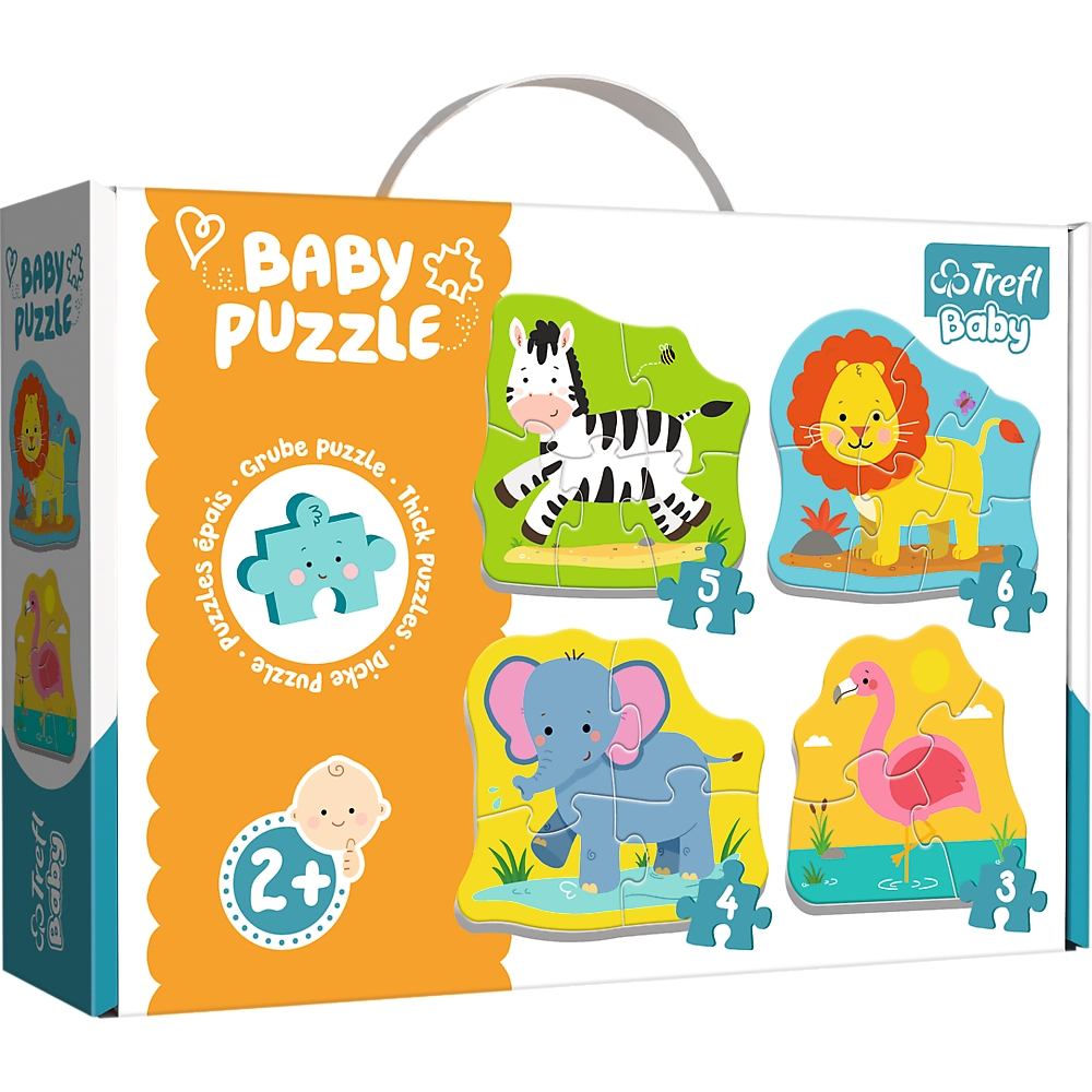 Puzzle Baby Classic 4w1: Zwierzątka na safari (36073)