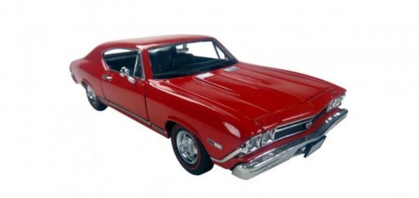 Model kolekcjonerski 1968 Chevrolet Chevelle SS396, czerwony (29397-2)