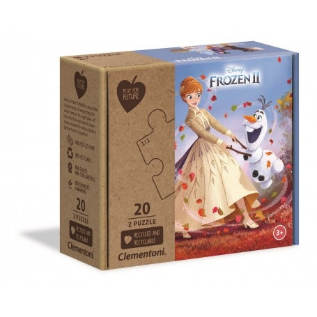 Puzzle 2x20 elementów Play For Future Frozen 2 (24773)