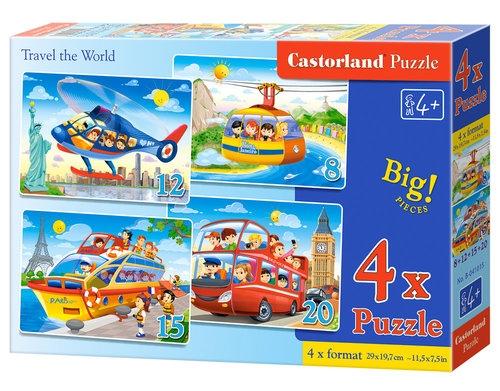 Puzzle 4 w 1: Podróż po świecie (B-041015)