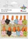 Klamerki dekoracyjne, 12 szt. - kwiatki (399113)