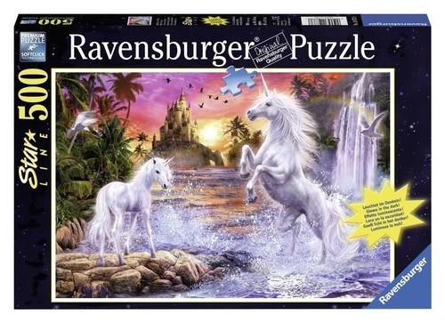 Puzzle Jednorożce nad rzeką 500 (148738)
