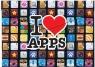 Koperta A5 na napę z nadrukiem Apps