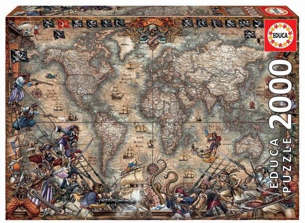 Puzzle 2000 elementów Mapa piratów (18008)