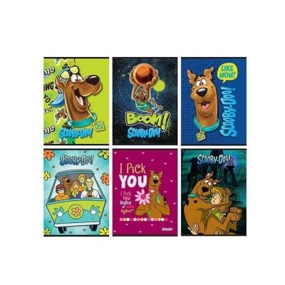 Zeszyt A5 Scooby-Doo w kratkę 54 kartki 10 sztuk mix