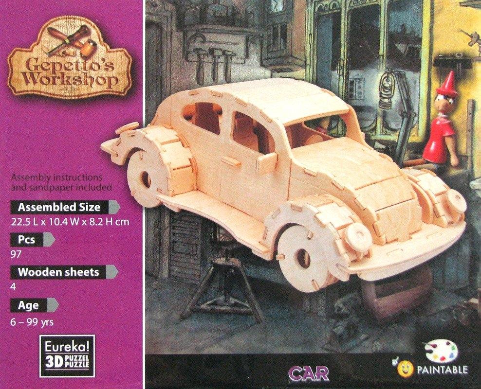 Łamigłówka drewniana Gepetto - Samochód (105690)