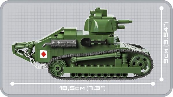 Cobi: Historical Collection. Great War - Renault FT-17 - francuski czołg lekki (2973)