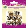 Dzwoneczki metalowe, złote (339382)