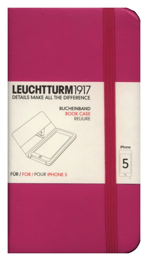 Etui iPhone 5 Leuchtturm1917 różowe