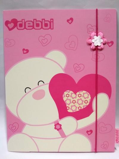 Teczka z gumką Debbi różowa