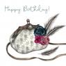 Karnet Swarovski kwadrat Urodziny torebka z piórami