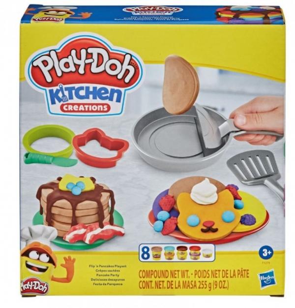 Zestaw z masą plastyczną PlayDoh Naleśniki (F1279)