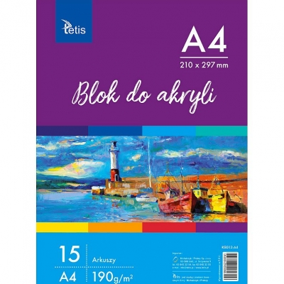 Blok artystyczny Tetis szkicownik A3 190 g 15 k. (KB012-A4)