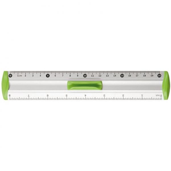 Linijka aluminiowa Tetis 20cm - zielona (BL040-ZB)