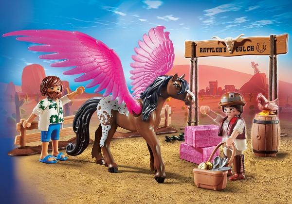 Playmobil: The Movie - Marla, Dell i skrzydlaty koń (70074)