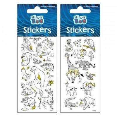 Naklejki do kolorowania Sticker BOO zwierzęta