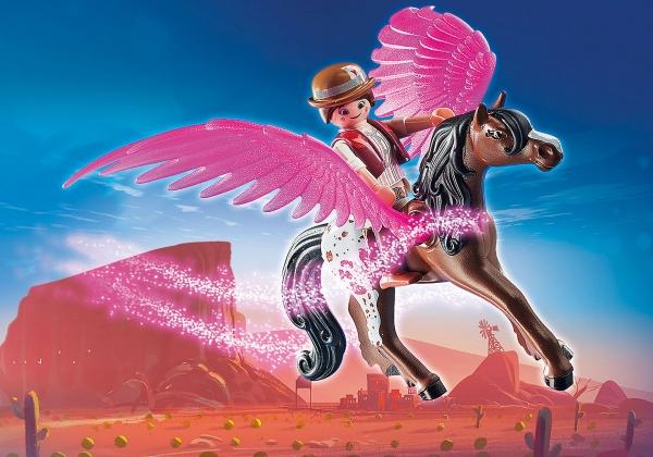 PLAYMOBIL: THE MOVIE Marla, Dell i skrzydlaty koń (70074)