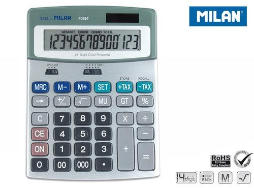 Kalkulator biurowy Milan - Metaliczny (40924BL)