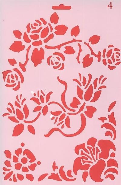 Szablon 04 rozkwitające kwiaty