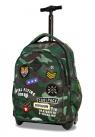 CoolPack - Junior - Plecak młodzieżowy na kółkach - Camo Green (Badges)