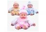 Lalka bobas niemowlę w ubranku 3 modele 50cm mix