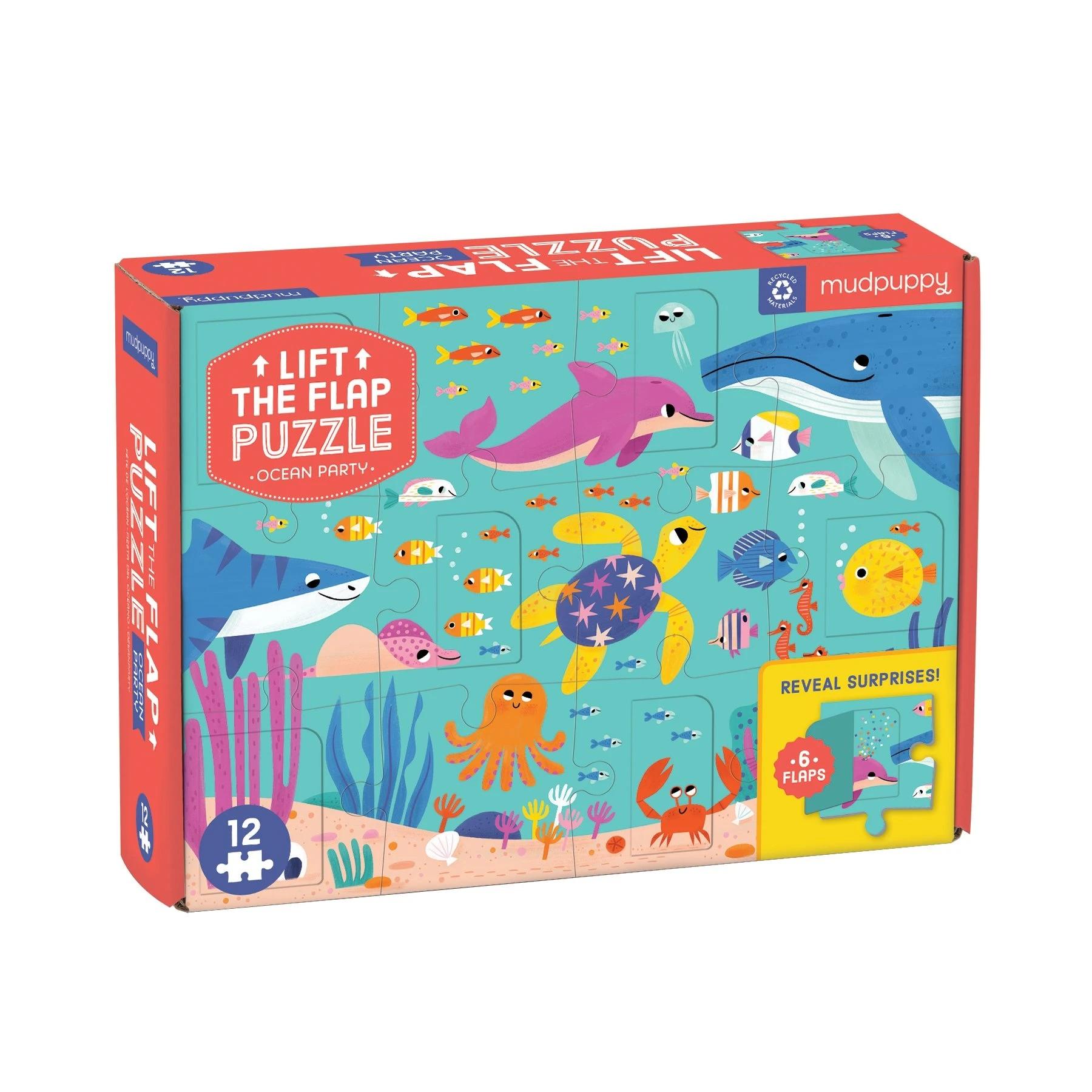 Mudpuppy, puzzle z okienkami 12: Przyjęcie w oceanie (MP65742)