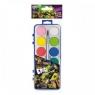 Farby akwarelowe 12 kolorów Żółwie Ninja