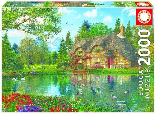 Puzzle Chatka z widokiem na jezioro 2000  (16774)