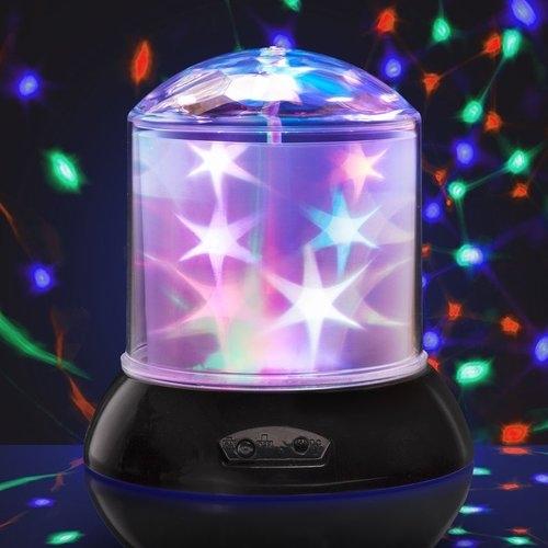 Lampka - projektor kolorowe gwiazdki