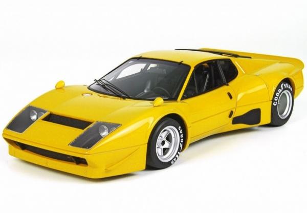 Ferrari 365 GT4 BB with display case (giallo modena/yellow) (BBRC1813CV)