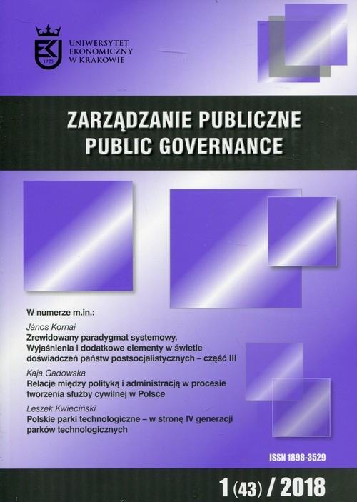 Zarządzanie Publiczne 1(43)/2018