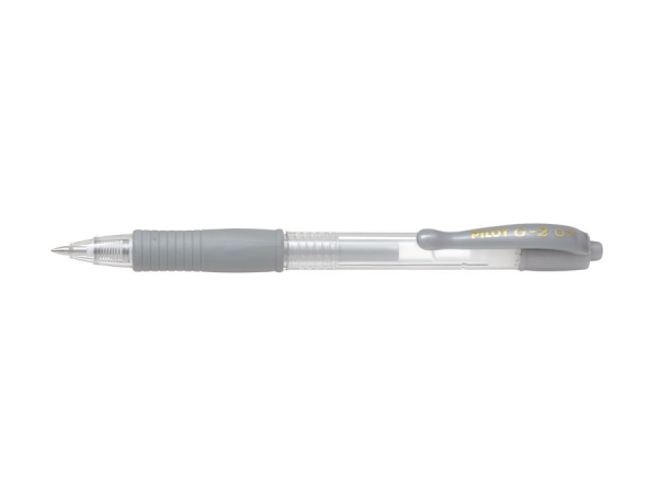 Długopis żelowy Pilot G-2 Metallic srebrny (BL-G2-7-SI)