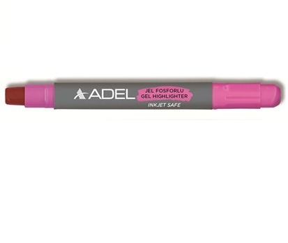 Textmarker żelowy ADEL - różowy