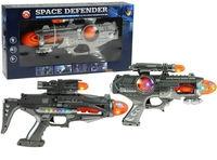 Pistolet SPACE DEFENDER światło dźwięk 2 modele