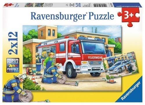 Puzzle Policja i straż 2x12el