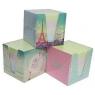 Kostka papierowa kolor pastelowa w kubiku 9x9x9cm (314830)