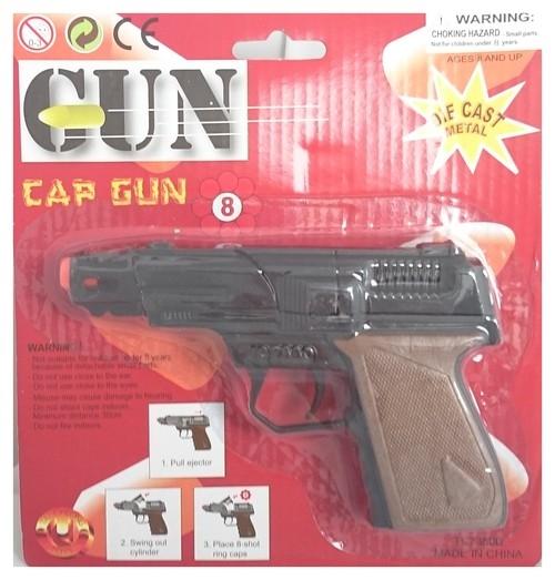 Metalowy pistolet na spłonki