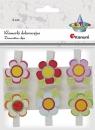Ozdoba drewniana Titanum Craft-fun klamerki kwiatki mix 6 szt