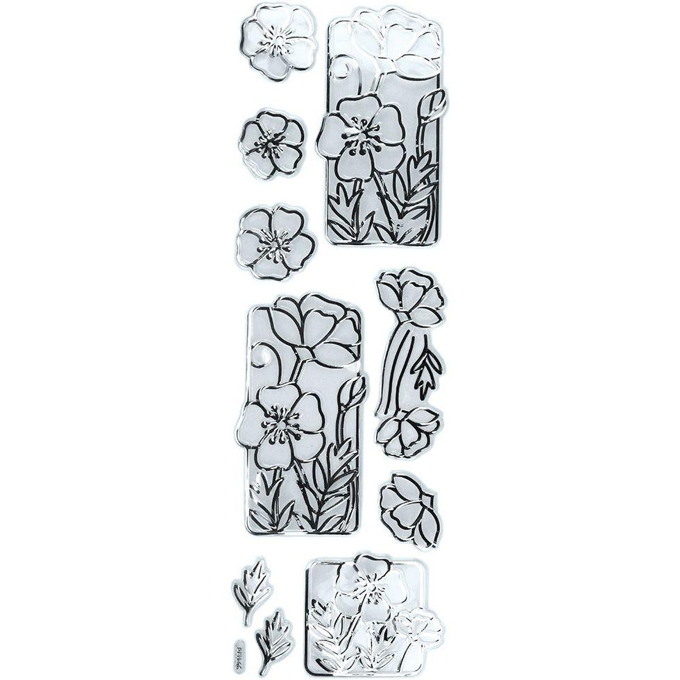 Naklejki foliowe - kwiaty (359406)