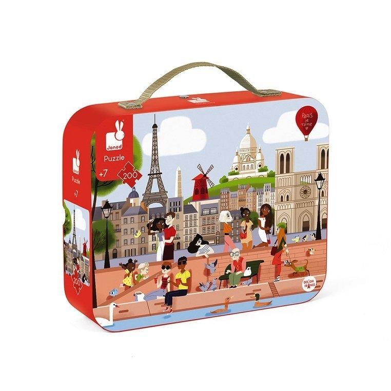 Puzzle w walizce Paryż 200 elementów (J02674)