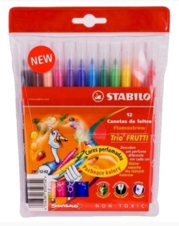 Flamastry zapachowe STABILO Trio Frutti 12 kolorów (290/12-02)